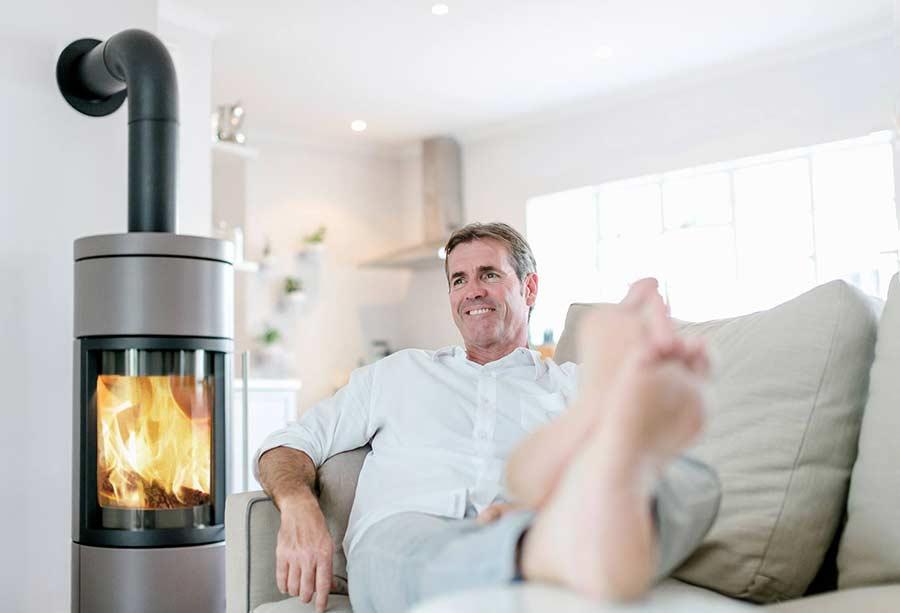 Nice wood burning stove livingroom